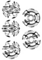 Thumbnail 5 x Tattoo flashes - Circular Maori Style Geckos