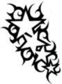 Thumbnail Tattoo flash - 4 stars with tribal
