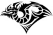 Thumbnail Tattoo flash - Tribal Dragon