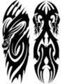 Thumbnail 2 x Tattoo flashes - Tribal Dragons