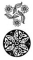 Thumbnail 2 x Tattoo flashes - Triskell with daisies and butterflies