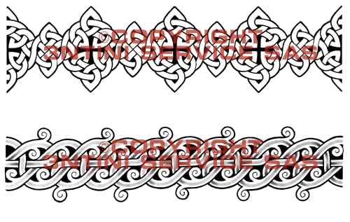 2 x Tattoo flashes - Celtic Tribal Armbands