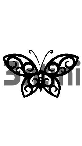Pay for Tattoo flash - Tribal butterfly