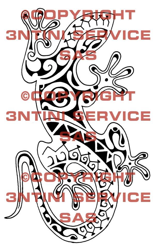 Pay for Tattoo flash - Polynesian Style Gecko
