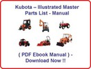 KUBOTA BX24D TRACTOR PARTS MANUAL - ILLUSTRATED MASTER PARTS LIST MANUAL - (HIGH QUALITY PDF MANUAL) - KUBOTA BX24 D TRACTOR - INSTANT DOWNLOAD !!