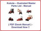 Thumbnail * KUBOTA BX2200 D BX2200D TRACTOR PARTS MANUAL - ILLUSTRATED MASTER PARTS LIST PDF MANUAL * BEST * (LA211 LOADER + MOWER inclu) - DOWNLOAD NOW!!