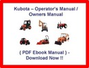 KUBOTA L2250 L2550 L2850 L3250 TRACTOR OPERATORS MANUAL / OWNERS MANUAL - (BEST QUALITY MANUAL) - INSTANT DOWNLOAD !!