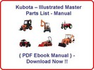 Thumbnail KUBOTA B26 TL500 LOADER PARTS MANUAL - INSTANT DOWNLOAD * HIGH QUALITY * !!