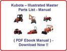 Thumbnail KUBOTA B26 TL500 LOADER PARTS MANUAL - INSTANT DOWNLOAD * HIGH QUALITY * !!