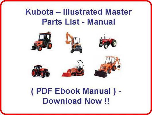 kubota tractor b7200 hstd parts manual illustrated master parts l