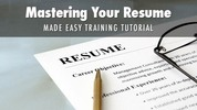 Thumbnail Mastering Resume Writing Made Easy Training Course