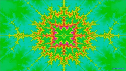Pay for HD 2D Mandelbrot fractal set zoom animation - acid rainbow