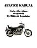 Thumbnail 1979-1985 XL/XR 1000 Sportster Ironhead Service Manual