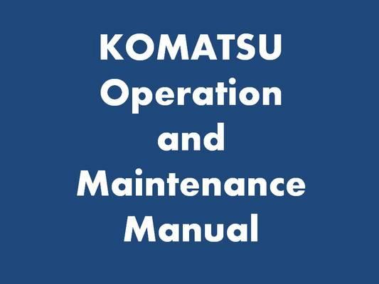 komatsu pcmr  workshop manual