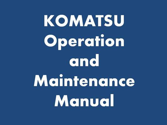 Pay for Komatsu PC27MRX-1 Shop Manual