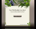 Thumbnail Wildlife minisite and WP template