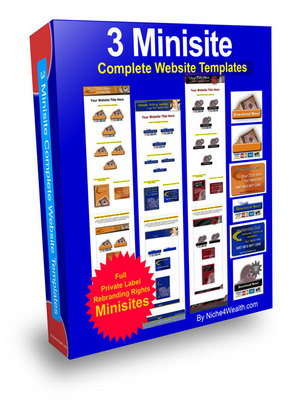 Pay for 3 Minisite website template package PLR