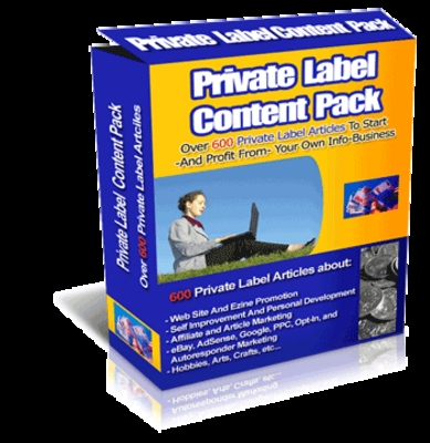 Pay for Private Label Content Pack