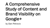 Thumbnail A Comprehensive Study of Content and Brand Visibility on Goo