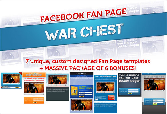 Pay for *Best Seller* Facebook Fanpage Warchest with PLR - Just $5