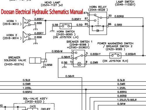 Doosan Dh130w Excavator Electrical Hydraulic Schematics Manual Inst