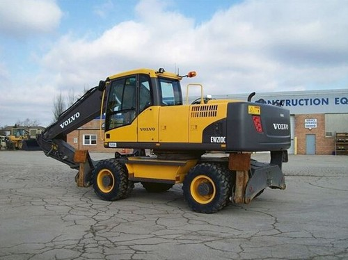 volvo ew210c wheeled excavator service repair manual