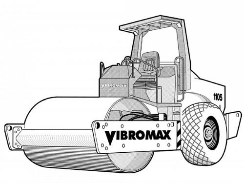 jcb vibromax 1105 1106 1405 1805 single drum roller. Black Bedroom Furniture Sets. Home Design Ideas