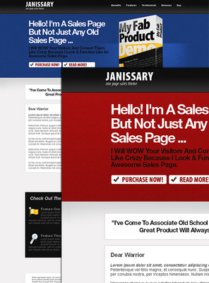 Pay for Sales Letter Template - Janissary One Page Sale Theme W/rr