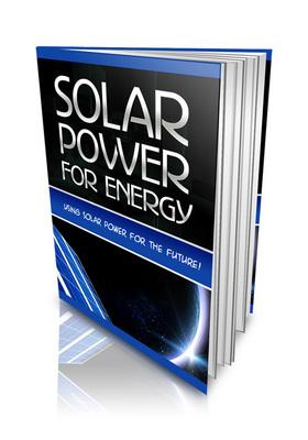 Pay for Solar Power For Energy Alternative Energy PLR