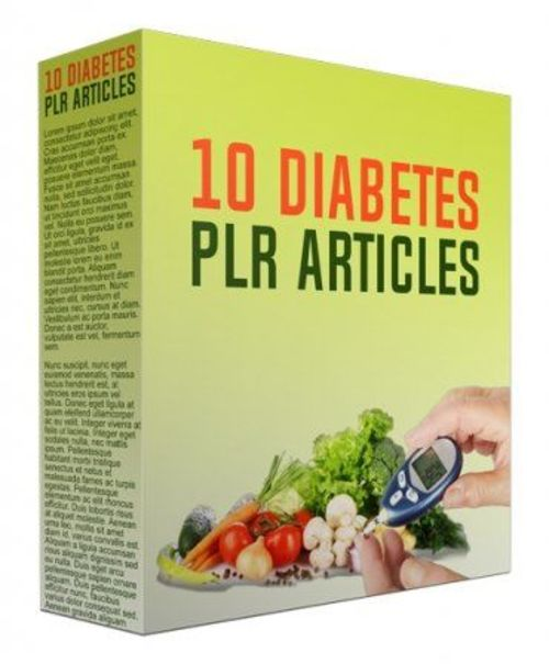 Pay for 10 Diabetes PLR Articles March 2017