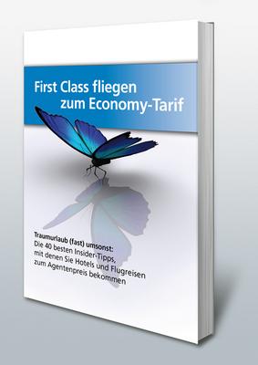 Pay for E-Book: First Class fliegen zum Economy-Tarif