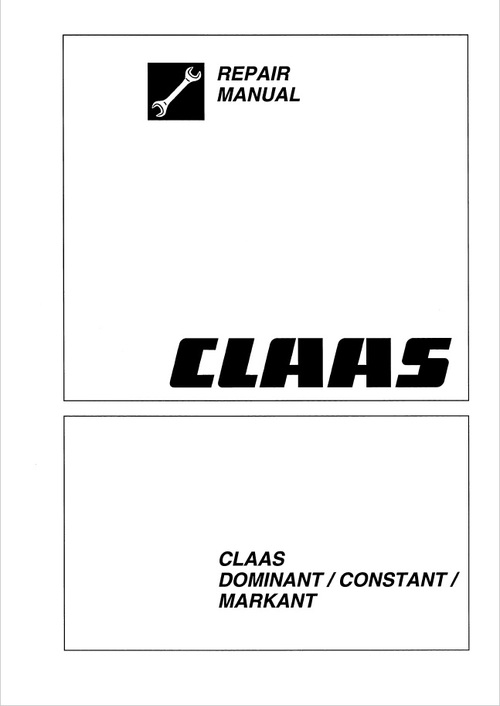 Pay for Claas Dominant, Constant, Markant and Trabant Repair Manual