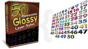 Thumbnail 50 Awesome Glossy Layer Styles - With Master Resell Rights