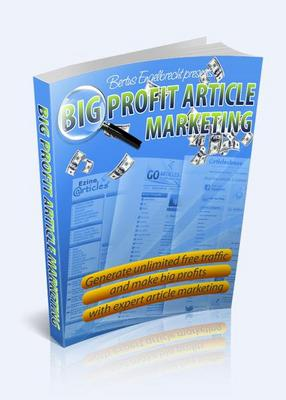 Pay for Big Profit Article Marketing + 4 Bonuses! - Mrr