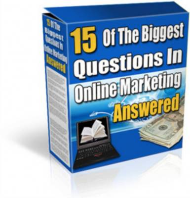 Pay for 15 Of The Biggest Questions In Online Marketing Answered + Reseller kit