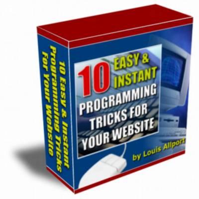 Pay for 10 Easy Instant Programming Tricks For Your Website - Mrr!