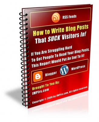 Pay for How To Write Blog Posts That Suck Visitors In! - With Resale Rights