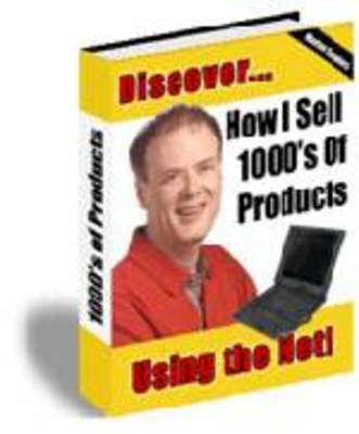 Pay for How I sell Thousand of Products Using The Web
