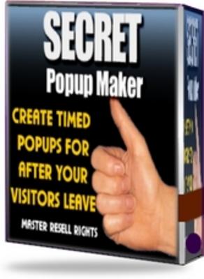 Pay for Secret Pop Up Maker -  Pop Ups for After Your Visitors Leave