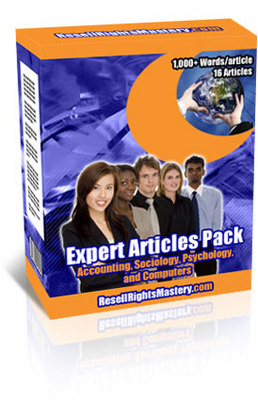 Pay for Expert Articles Pack - Accounting-Sociology-Psychology-PC