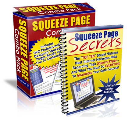 Pay for Squeeze Page Profit System Combo Pack - With PLR