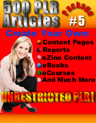 Pay for 500 New PLR Articles Pack #5