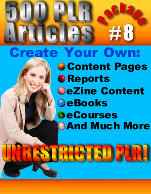 Pay for 500 New PLR Articles Pack #8
