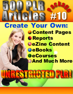 Pay for 500 New PLR Articles Pack #10