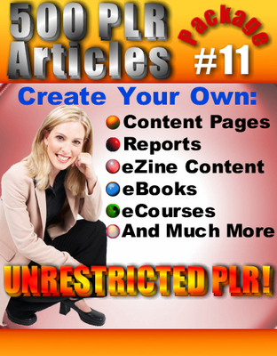 Pay for 500 New PLR Articles Pack #11
