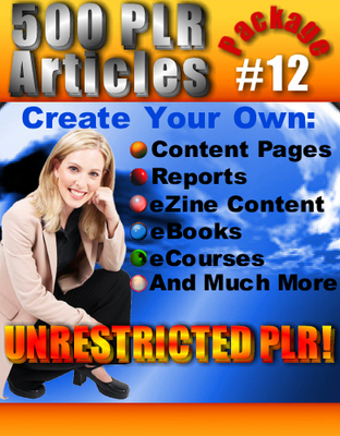 Pay for 500 New PLR Articles Pack #12