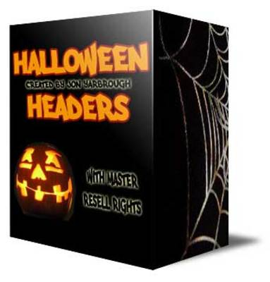 Pay for Halloween Headers With Template Bonus & Master Resell Rights