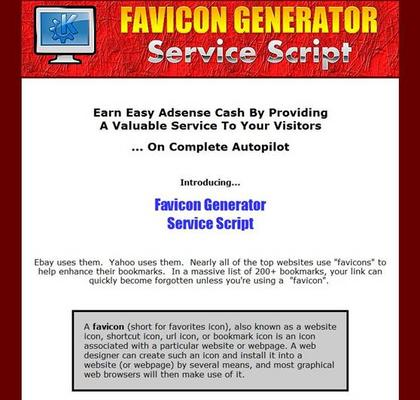 Pay for Favicon Generator Service Script - Master Resell Rights