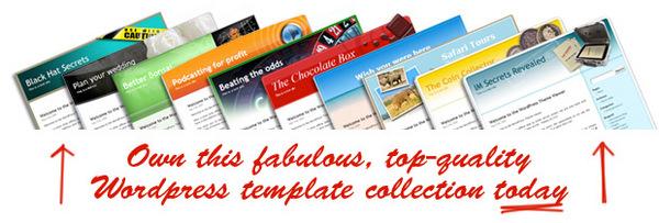 Pay for 10 Original Wordpress Templates