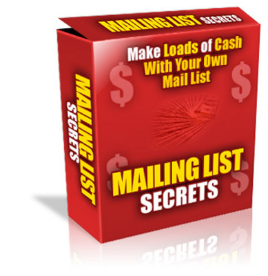 Pay for Mailing List Secrets With Master Resale Rights